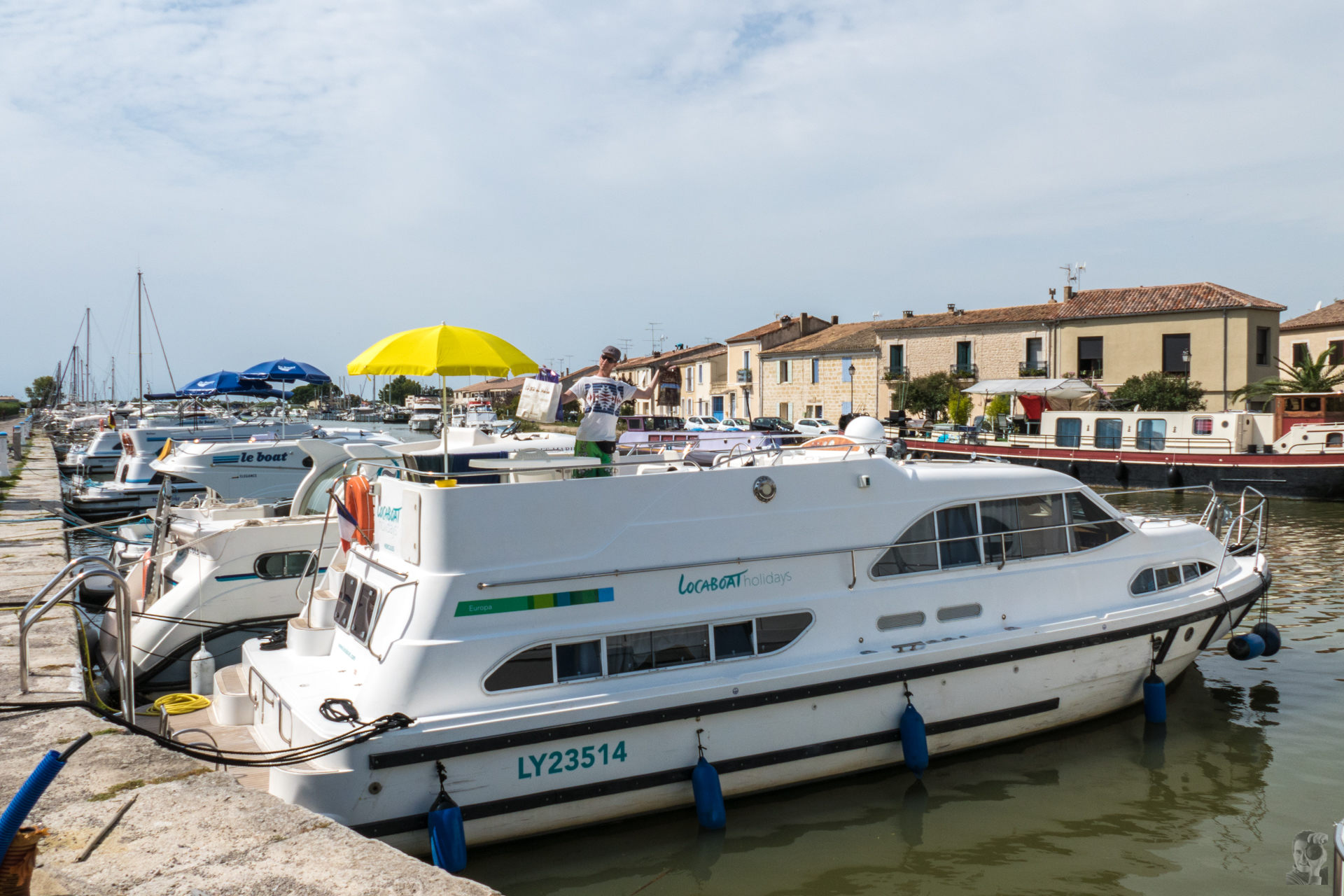 Hausbootferien 2015, Lattes-Europa 600 in Aigues-Mortes