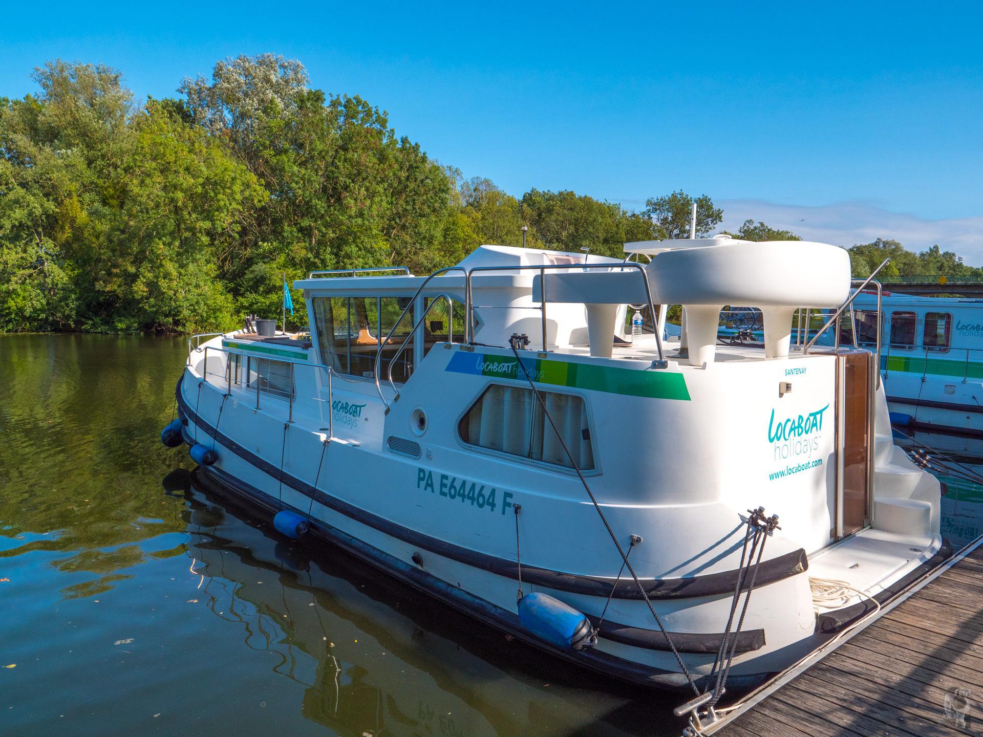 """Hausbootferien 2017, St-Léger-sur-Dheune - Louhans-im Hafen von """"Cuisery"""""""