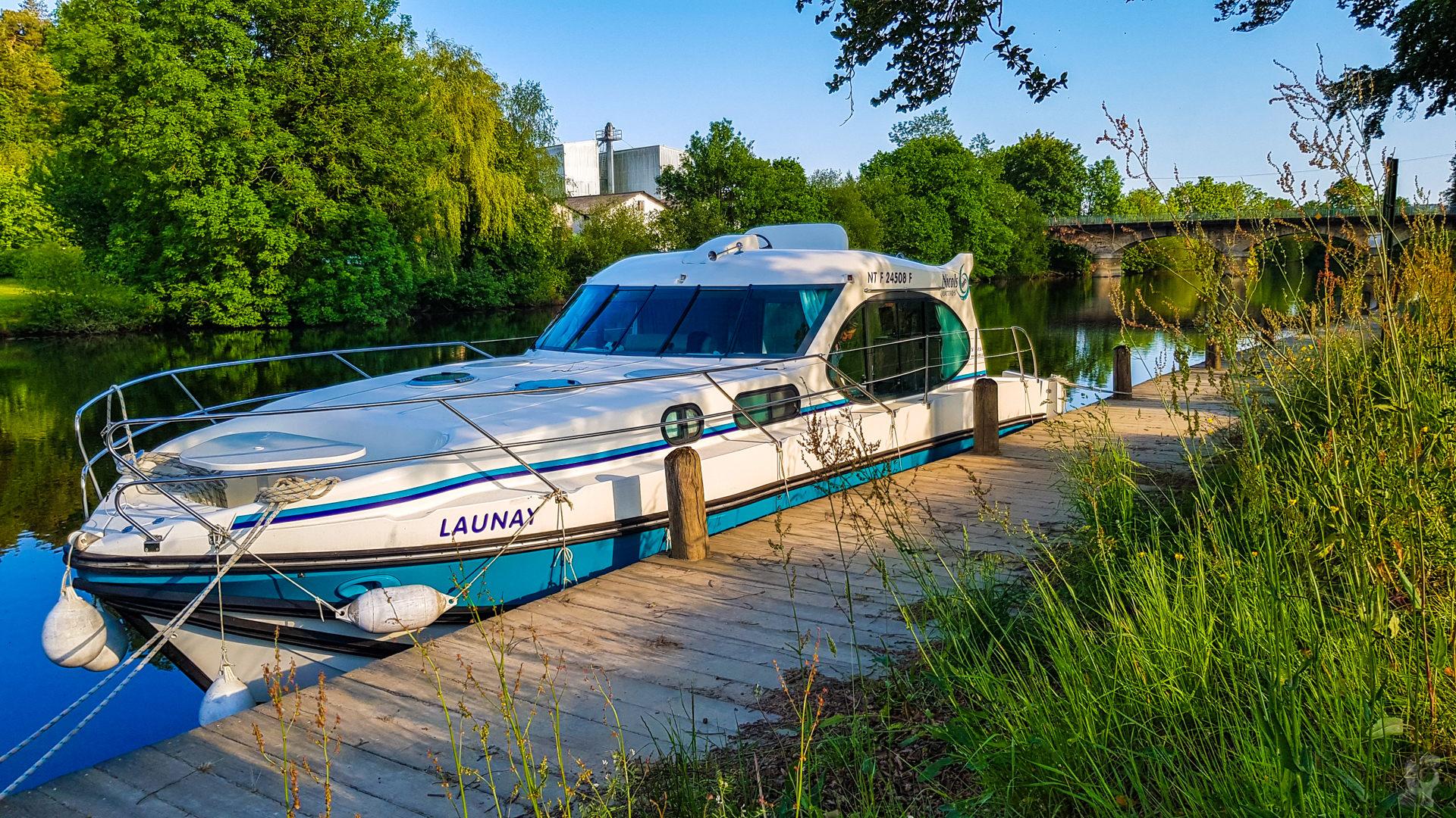 Hausbooturlaub 2018-Glénac/Bretagne-Anleger in St-Congard