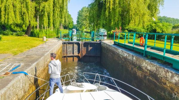 Hausbooturlaub 2018-Glénac/Bretagne-Schleuse 23 - Beaumont