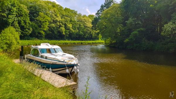 Hausbooturlaub 2018-Glénac/Bretagne-Anleger bei La Capelle-Caro