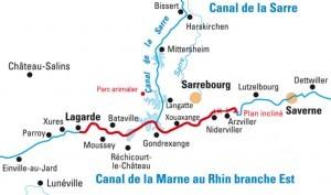 In Lagarde sind wir gestartet und bis Saverne gefahren, dort war der Wendepunkt der Route und zurück nach Lagarde.