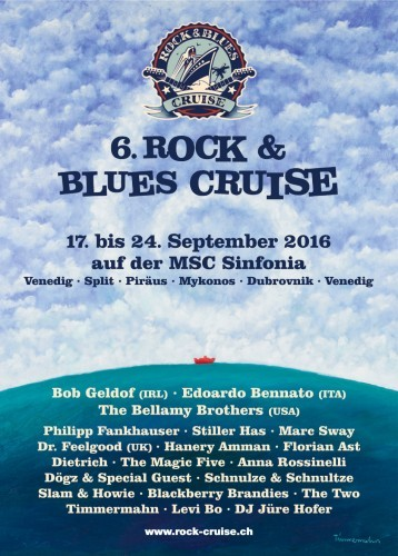 Rock & Blues Plakat 2016 und Logo gestaltet von Timmermahn
