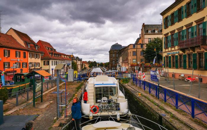 Schleuse in Saverne-Canal de la Marne au Rhin