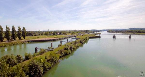 """Hausbootferien 2017, St-Léger-sur-Dheune - Louhans-Schleuse bei """"Ormes"""" auf der """"Saône"""""""