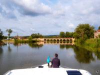 """Hausbootferien 2017, St-Léger-sur-Dheune - Louhans-Wehr bei """"La Truchère"""""""