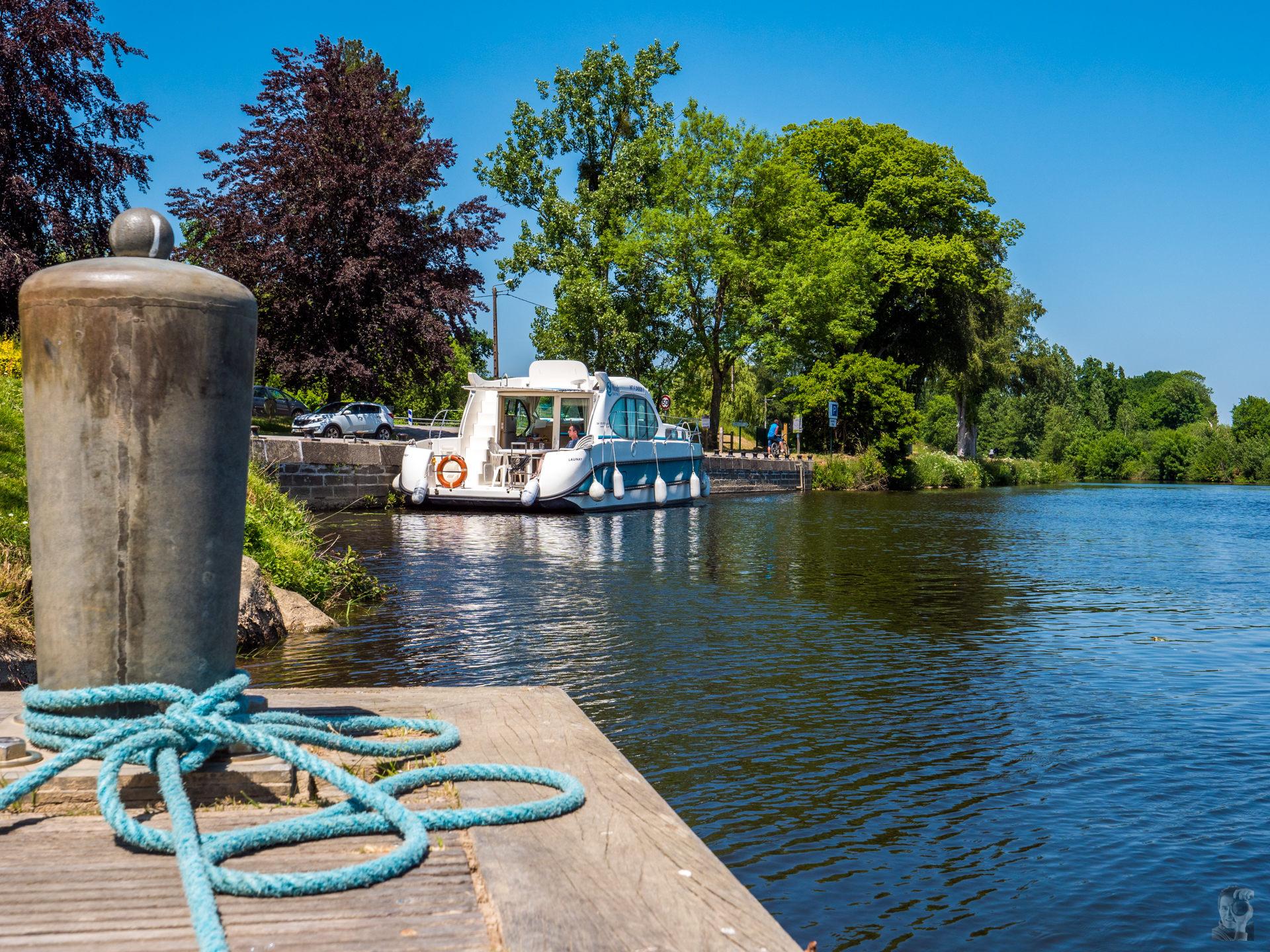 Hausbooturlaub 2018-Glénac/Bretagne-Anleger in le Pont d'Oust